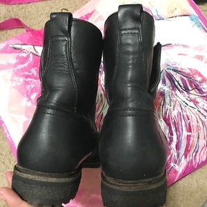 Frye Shoes - Frye Mara Button Shearling Short Black Boot 8.5